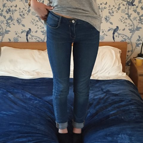 85657be6 Really nice blue jeans from #zara only worn a few times as I - Depop
