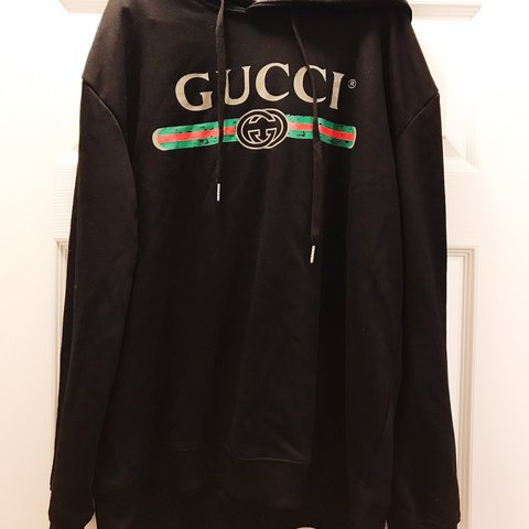 7f54a3453f2 UNISEX GUCCI HOODIE SIZE XL add this GUCCI logo hoodie to - Depop