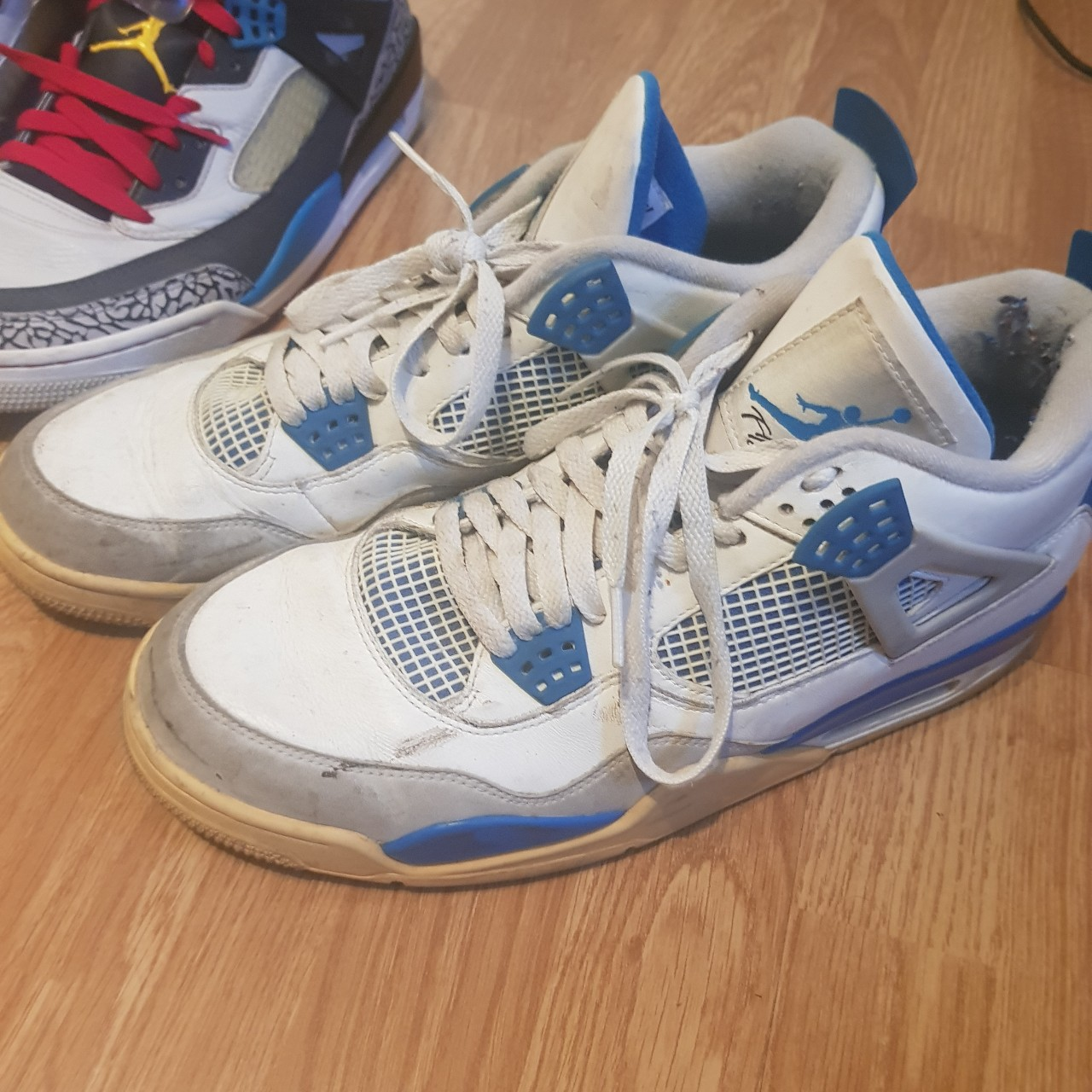 on sale 09f19 76487 Jordan 4s Military Blue (2012 release) - Depop