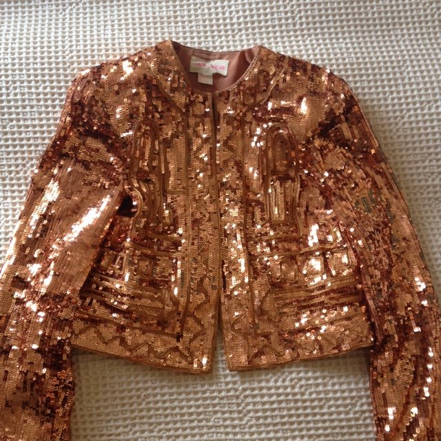 756ac3e0 H&M orange sequin bolero jacket, was part of the Fashion for - Depop