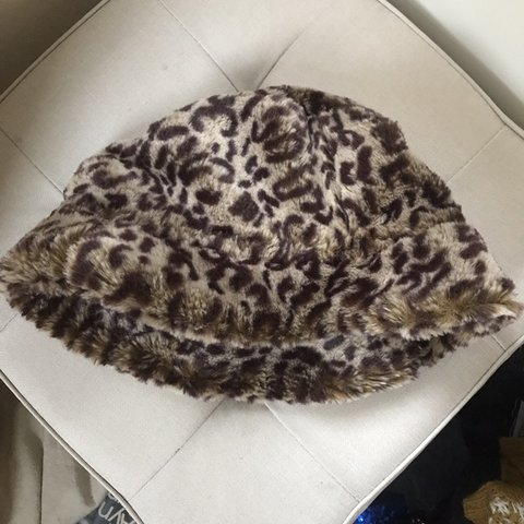 4bd411ab5b5ea Leopard print fur bucket hat great for a festival - I have a - Depop