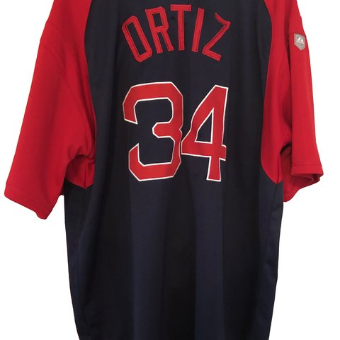 0928ec16c MAJESTIC BOSTON RED SOX DAVID ORTIZ  34 BIG PAPI JERSEY XL - Depop