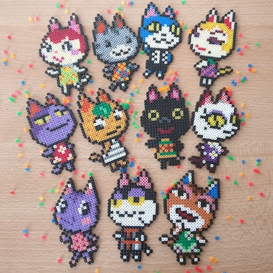 Anime Video Game Perler Bead Collection These Depop