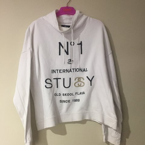 6ff2578e7173 Number 1 STUSSY hoodless jumper cuffed wrists, loose and - Depop