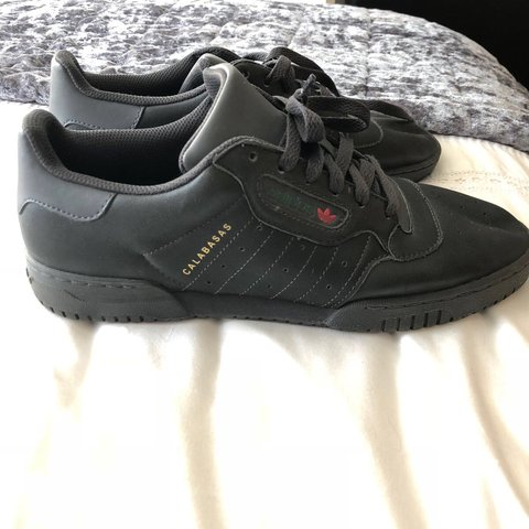 b93f66c2d0b Adidas yeezy powerphase calabasas trainers Core Black Size - Depop