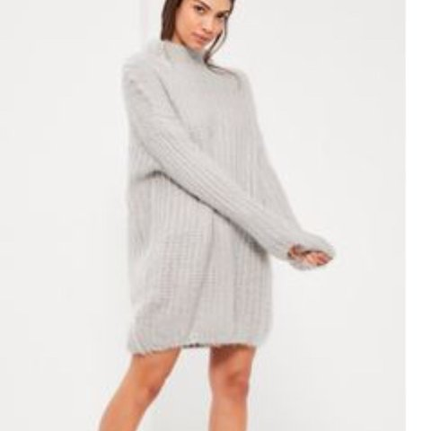 29faf2a0a42 REDUCED  Grey chunky knit dress. The softest comfiest This - Depop