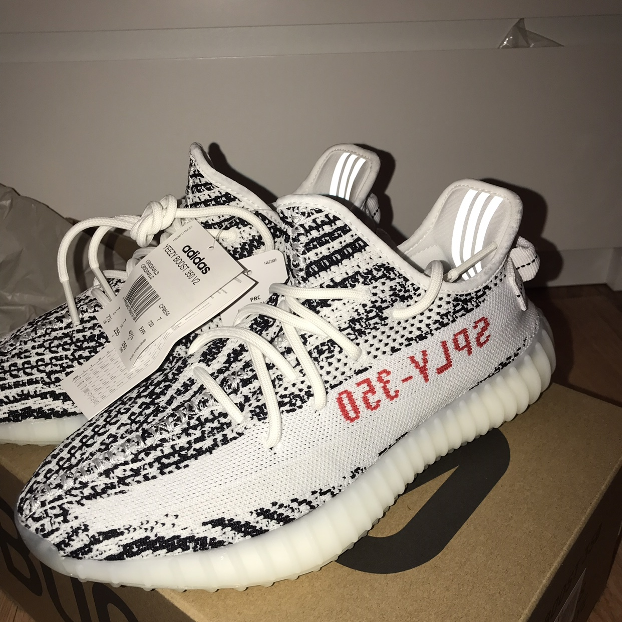Details about Adidas Yeezy Boost 350 V2 Zebra Size 11 (Never Worn)