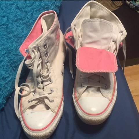 aca2264f8749 Double layered converse pretty much brand new only worn 3 - Depop