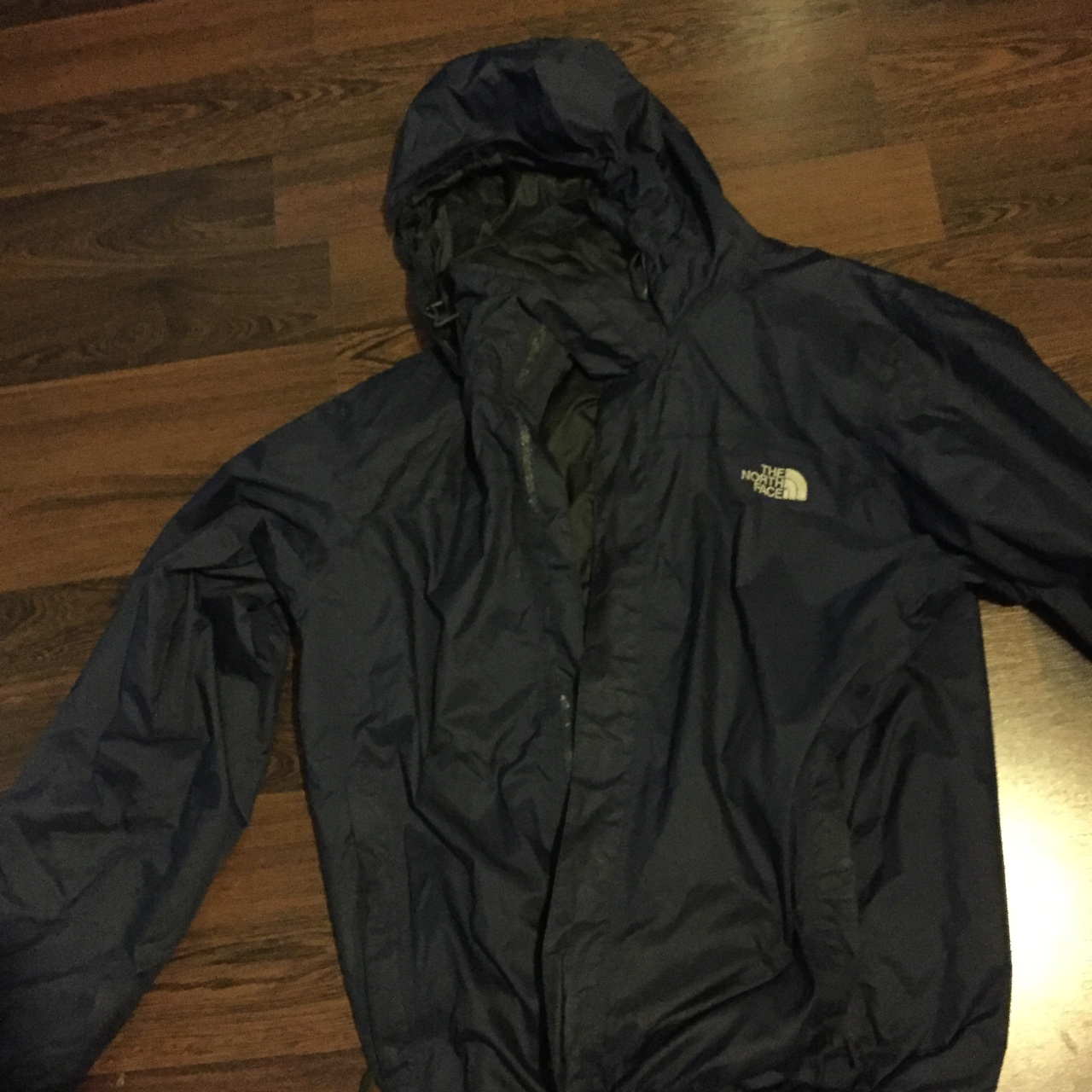 North Face Hyvent jacket in great condition in NAVY Depop