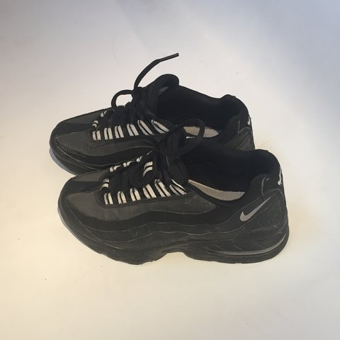 d565e7e2ca ... discount nike air max 95 rare black and dark grey reflective 95s depop  0e375 1724b