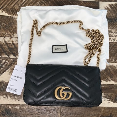 aecd32b9d151 @herens. 2 months ago. United States. GUCCI Black Quilted Marmont 2.0 Bag  BRAND NEW/NEVER ...