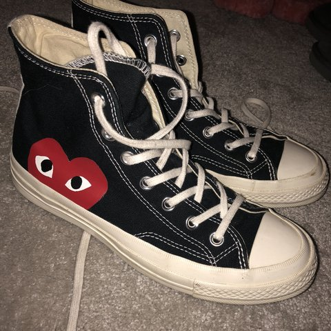 db7181c12edf Comme des garcons cdg converse worn a few times but too big - Depop