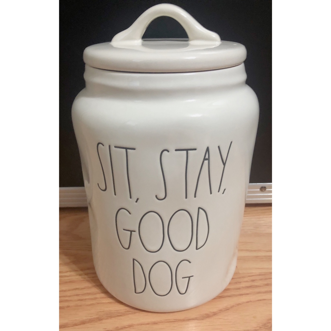 """NWT Rae Dunn New Release Dog Canister """"Sit, Stay,    - Depop"""