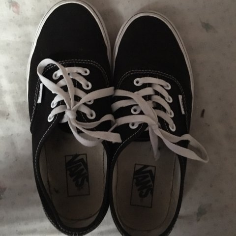 e592beee645  sherry arteaga01. 15 days ago. United States. Black Authentic Vans women  size 8 men size 6.5 ...