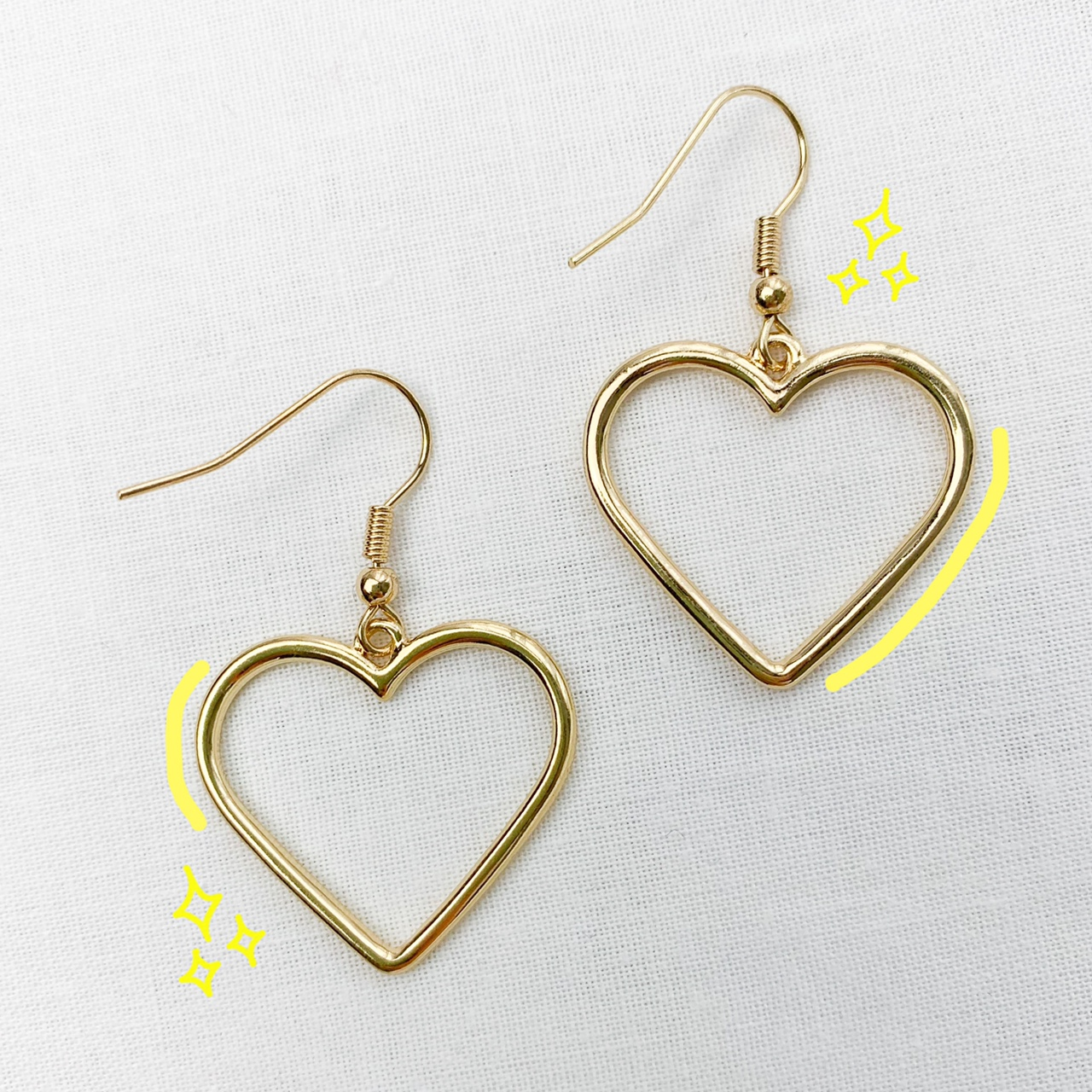 ✨ Gold Plated Heart Earrings ✨
