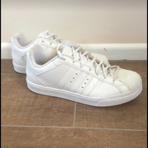 Price negotiable All white size mens 9 adidas superstars a - Depop 695e38c22