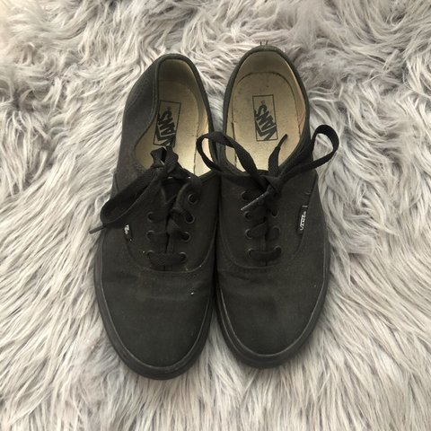 a372322cb4 Black Vans Size 3 kids equivalent to size 5 in  F21  Pacsun - Depop