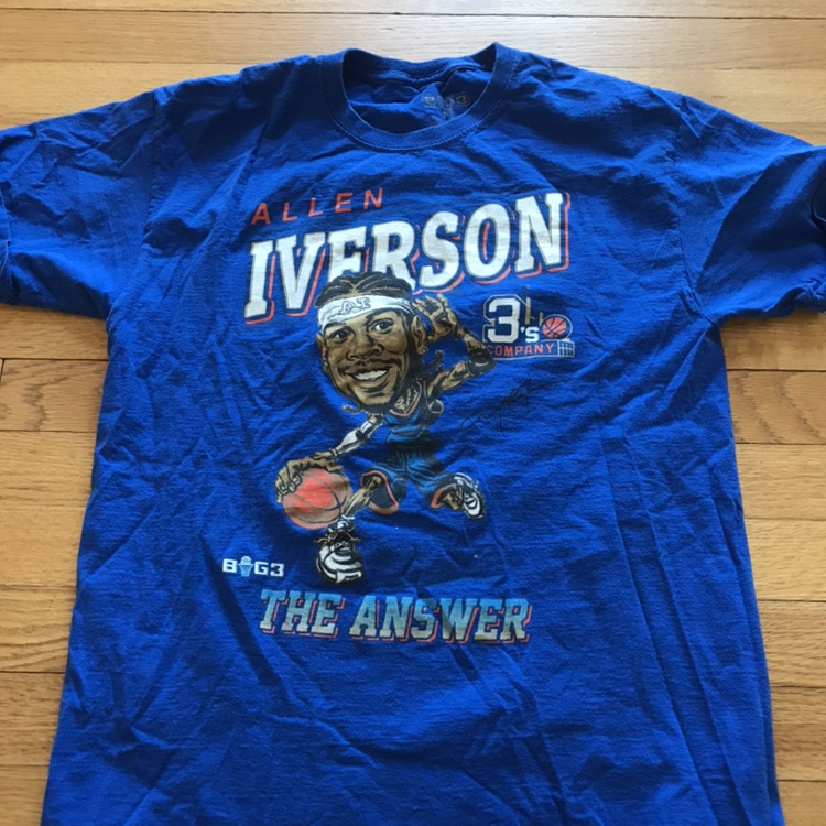 new product 691b6 1b3e7 Allen Iverson Big 3 Caricature The Answer T Shirt - Depop