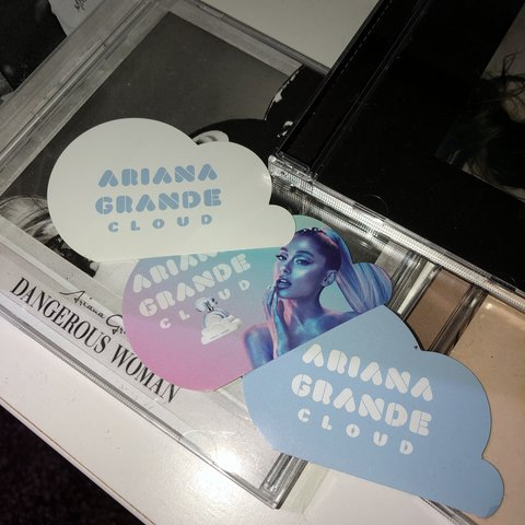 Ariana Grande Cloud Perfume Stickers Middle One Is One Depop