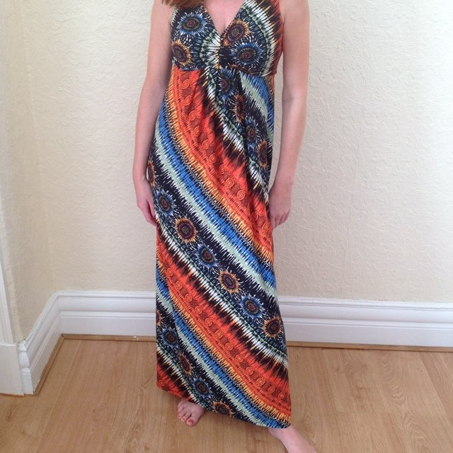 f4d63481a16 Hippie style colourful maxi dress. Great for holidays! Size - Depop