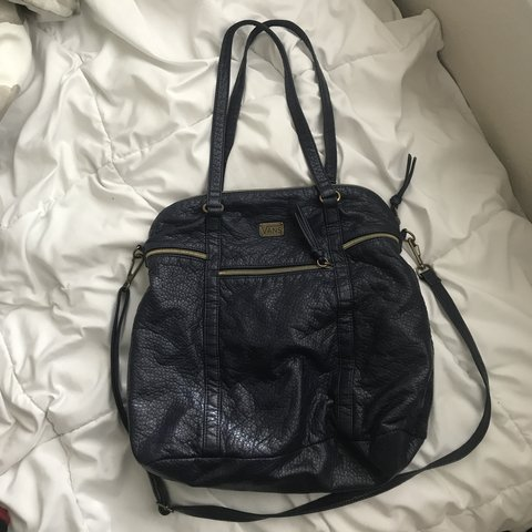 6b43d77e6c Vans navy blue shoulder purse with a removable (as well as - - Depop