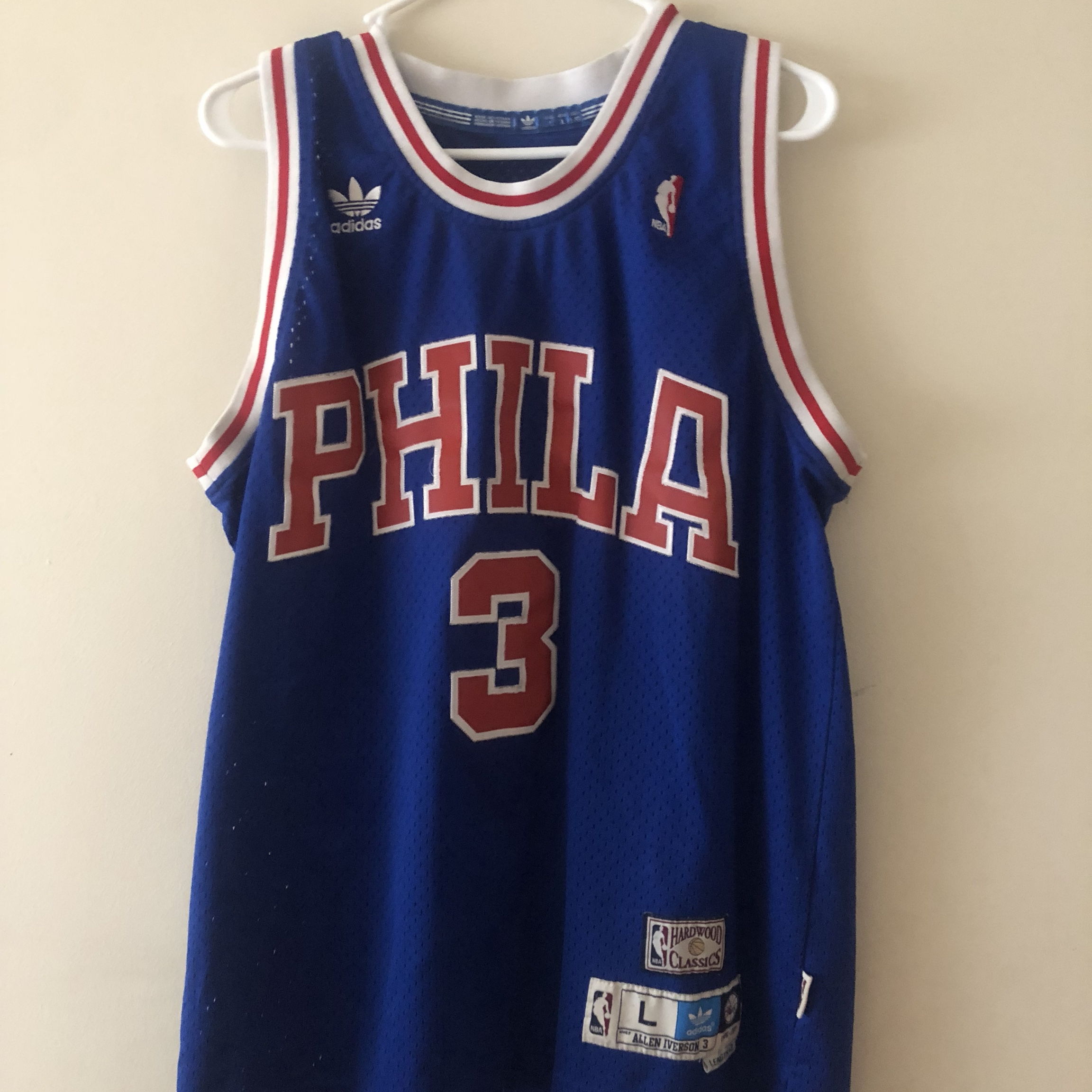 promo code 8403e 2a110 Allen Iverson Adidas Jersey Great Condition - Depop