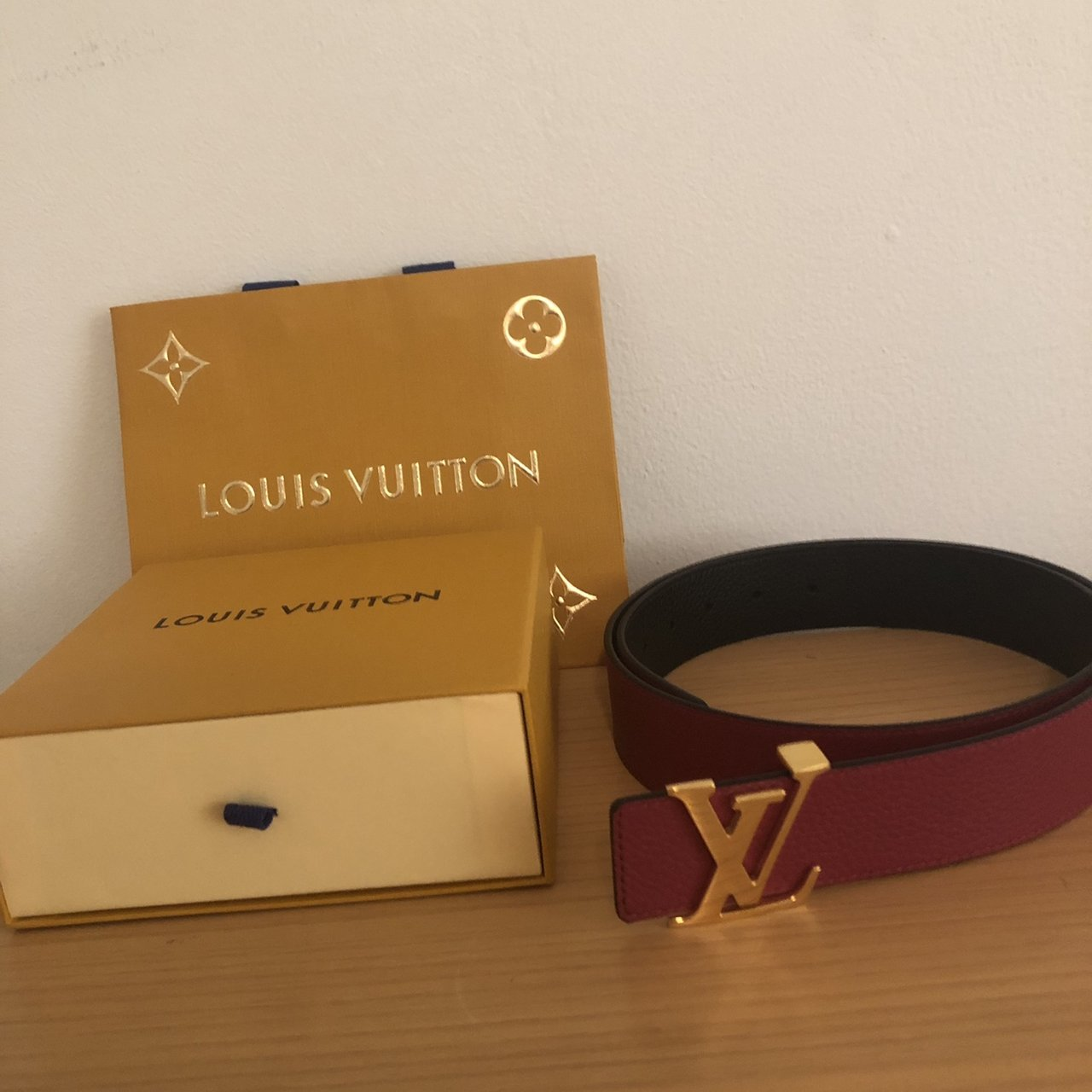 ddce5577048b 📝Name  Louis Vuitton Monogram Galaxy Belt Reverso 40MM Belt - Depop