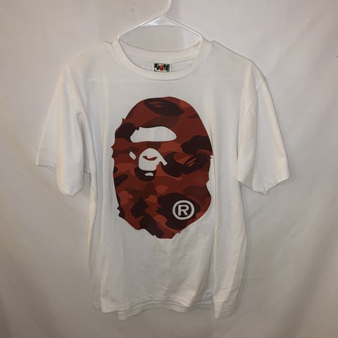 b9ccde6e @justinjose. 14 days ago. Escondido, United States. Bape Color Camo Big Ape  Head Tee White/Red.