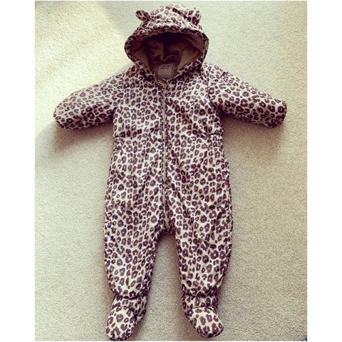 a92ceb02b @emalicestephx. 4 months ago. Hemel Hempstead, United Kingdom. Baby girl  leopard print snowsuit all in one from next. 9-12 ...
