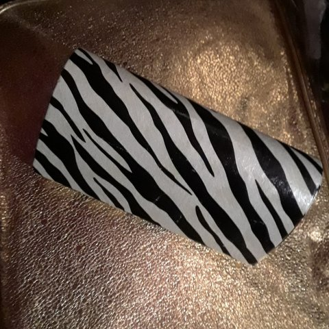 Heart Shaped Zebra Print White Black Sunglasses Case Used Depop