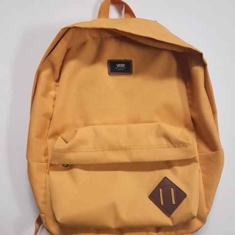 4b08a44ce3 VANS mustard yellow backpack with leather details. So so but - Depop