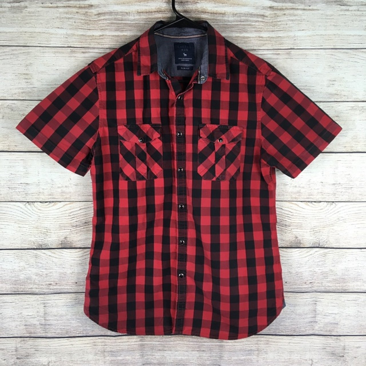 7009c58e34c9 Buffalo plaid button up from Cactus Man. Slim fit