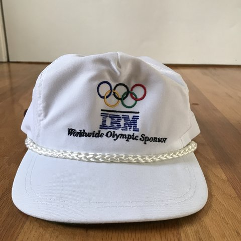 94970845 @thriftwithyou. 4 months ago. Portland, United States. Vintage IBM Olympic  hat