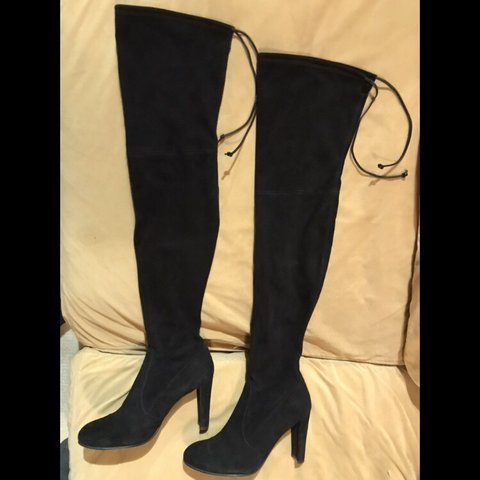1c1193a46b5 Stuart Weitzman Highland over the knee boots. Black. Suede. - Depop