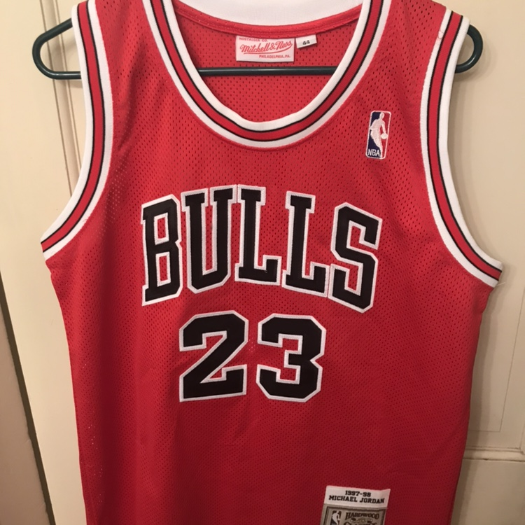 finest selection 473a4 ad7e3 Michael Jordan Mitchell and Ness 44 size Large... - Depop