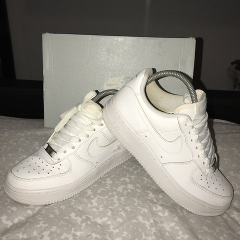 c3c5371652e @loooozzz. 8 months ago. Birmingham, United Kingdom. Nike air force 1s. Size  4 unisex all white worn comes with box