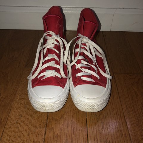 Converse One Star Red High Tops The Sole Is Different Than Depop