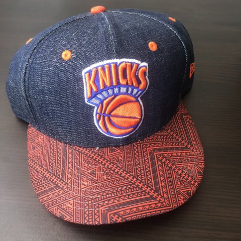 a1d6ea4cbaf Denim New York Knicks Snapback 🗽 Brand New Black History - Depop