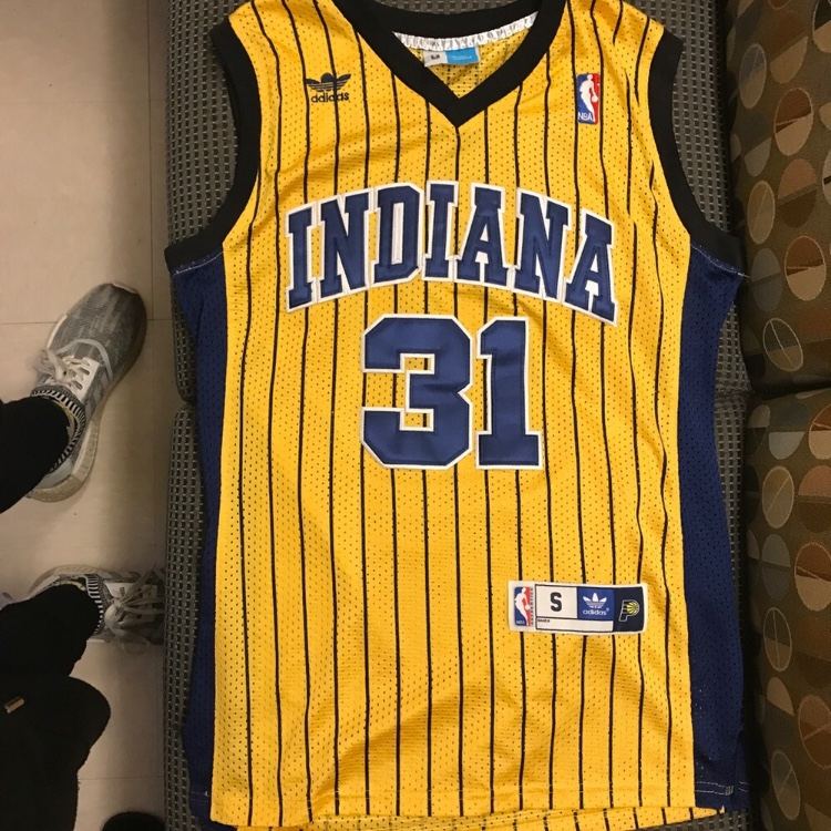 the latest 00390 af7c0 Reggie Miller Indiana Pacers pinstripe throwback... - Depop