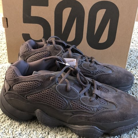 5db2a2452dc YEEZY 500 desert rat utility black UK size 9! Never worn! No - Depop