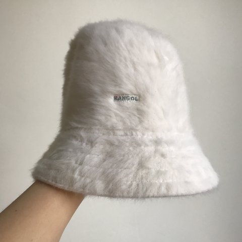 713954735afeb Kangol fur fluffy bucket hat - in great condition  ) message - Depop