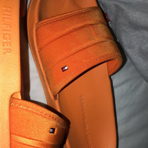 5c29a043b Tommy Hilfiger Sliders Slides. Worn on holiday for a week