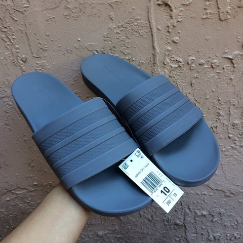 da7f85bfd Adidas Adilette Grey Slides - New With Tags☁ ☁ - Men s 10 - Depop