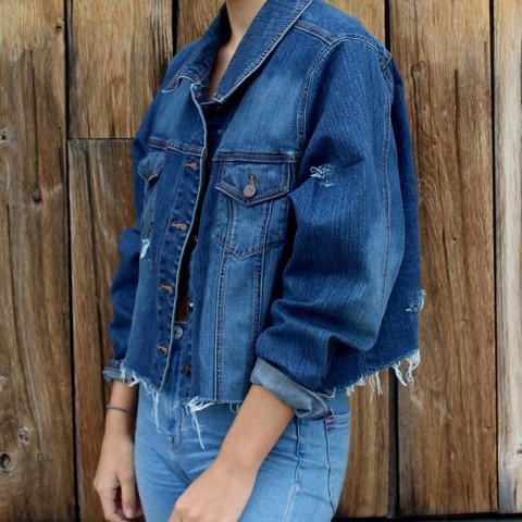 4b619a5bc2 Beautiful cropped jean jacket! Made by Venezia jeans