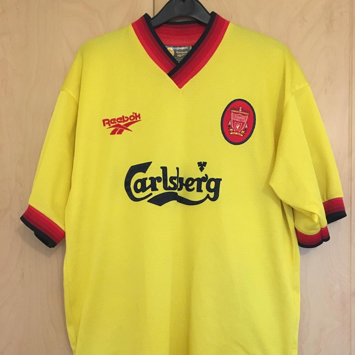 the best attitude 22397 9c071 Liverpool Football Club Away Kit 1997/1998 This... - Depop