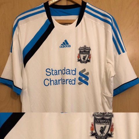 25a02acae88 Liverpool FC Football Shirt 2010 2011 Away Size - Men s - - Depop