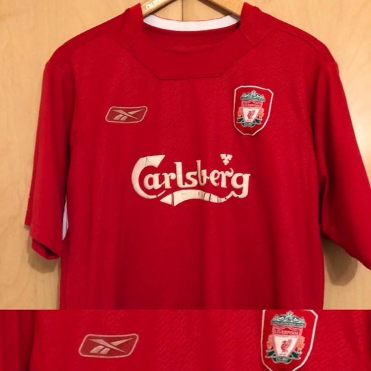 brand new 2c586 25bda Liverpool FC Football Shirt 2004-2006 Home Size -... - Depop