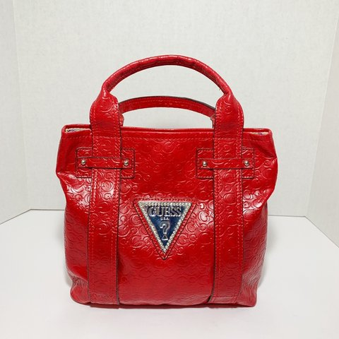 989c9efd6a Vintage Guess❓ bag cherry red 🍒 Gently used still in bag - Depop