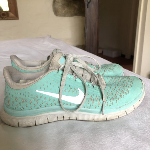 6c72f0f8e883 Nike free run 3.0 V4 trainers in Tiffany blue. Size 4
