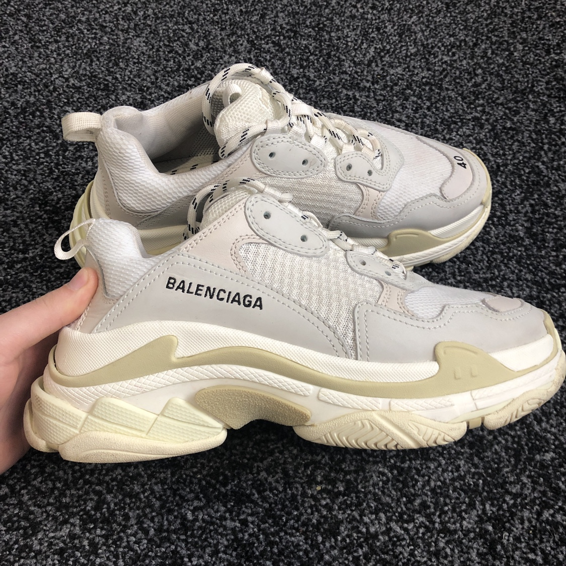 9d0ebf3fdba balenciaga Triple S. Size 40 fit 42 Only shoes No... - Depop
